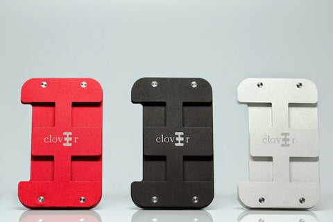 Clover Wallet Colours: Red, Black, Silver