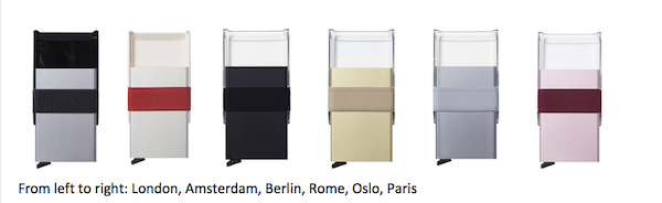 SECRID Cardslide Wallet colour option range