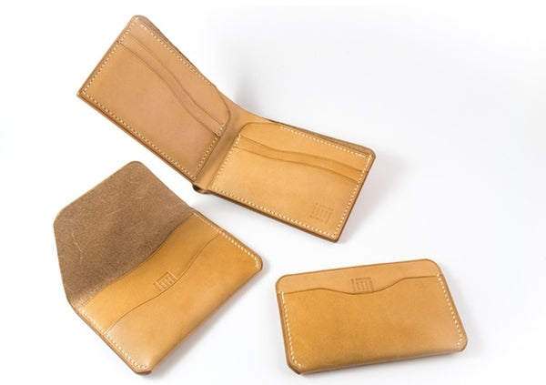 Fides Three handcrafted leather wallets