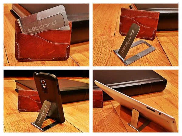 Tiltcard phone and tablet stand