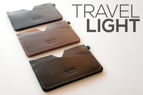 SLIM Premium Leather cardholder wallet slim and light