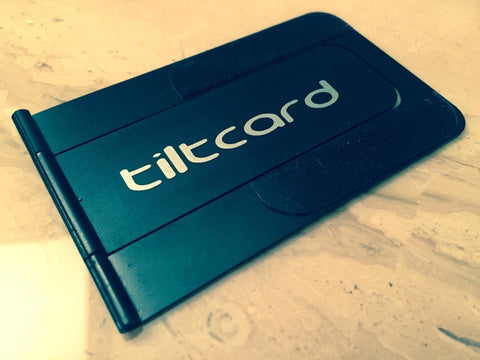 Tiltcard iPhone stand black