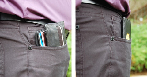 Urban Slim Wallet Comparison in Use