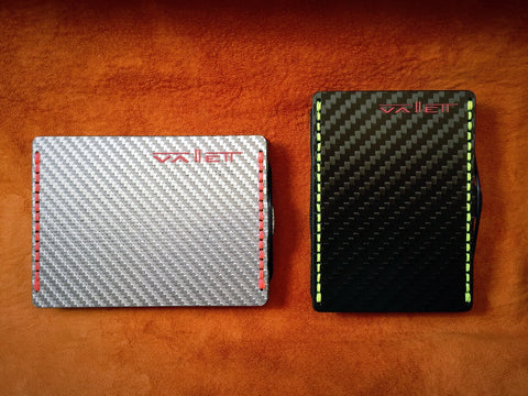 Vallett Wallet colour finish options