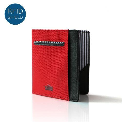 Wallet - FLIP WOLYT™ - Red/Black RFID