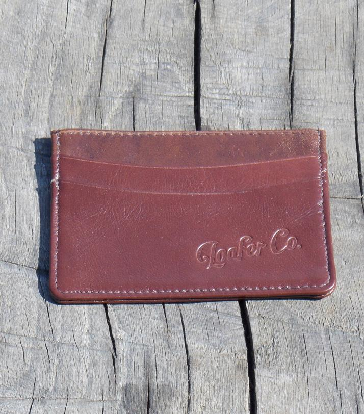 Wallet - Loafer Co Slim Leather Card Wallet