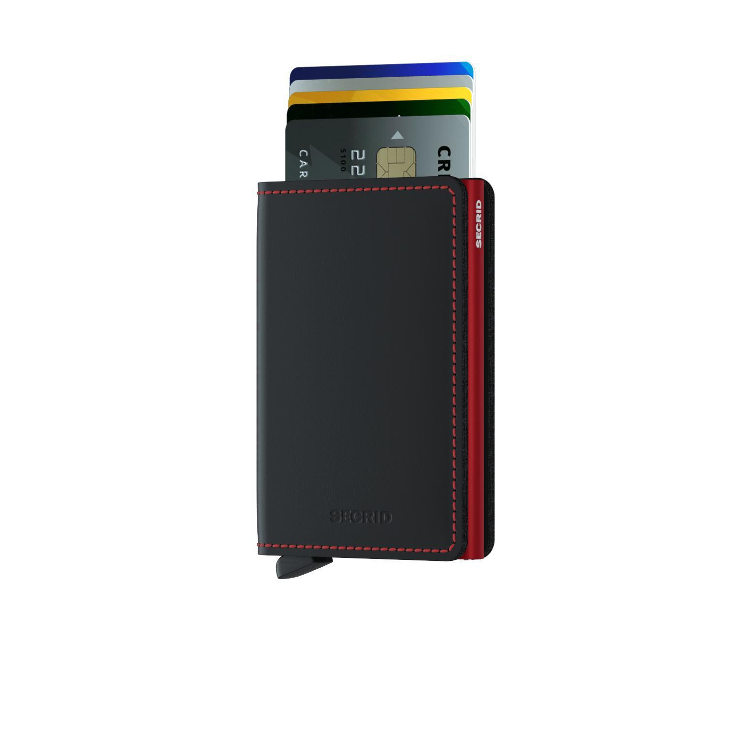 Wallet - SECRID Slimwallet Matte Black & Red