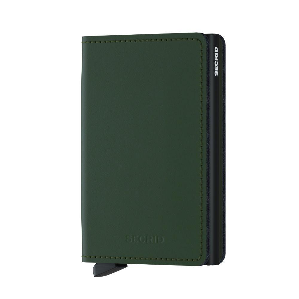 Wallet - SECRID Slimwallet Matte Green - Black