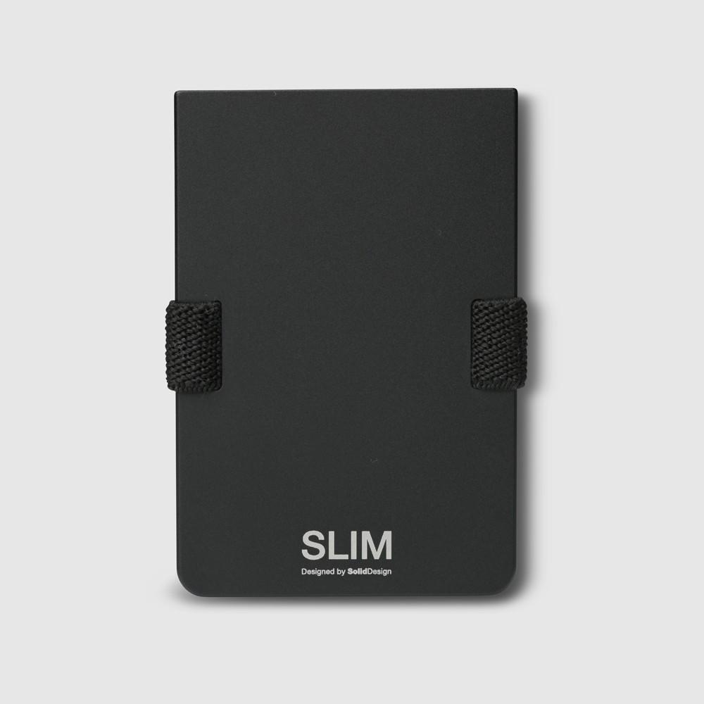 Slim - Aluminium Black-Wallet-Solid Design-Slim Wallet Junkie