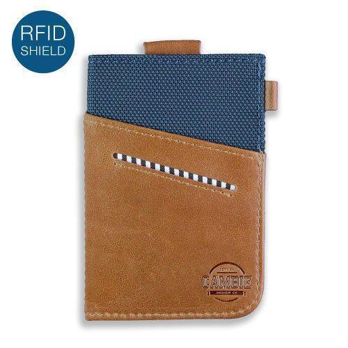 Wallet - WOLYT™ Sleeve RFID - Cobalt/Brown
