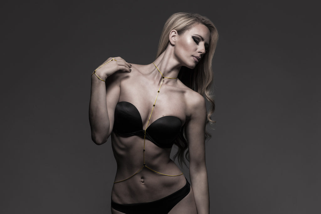 The Lie by JPZ Fine Body Jewelry - 14K Chain Body Harness