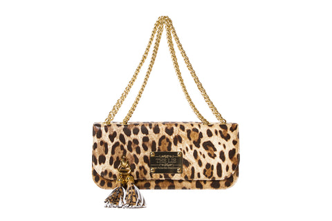 Small Shoulder & Cross Body Clutch Leopard Print