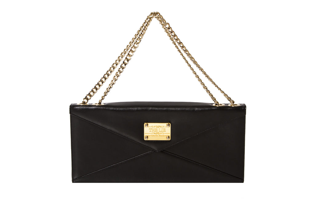 NEW ARRIVAL - Evening Envelope Cross Body & Shoulder Matte Black With Golden Combo