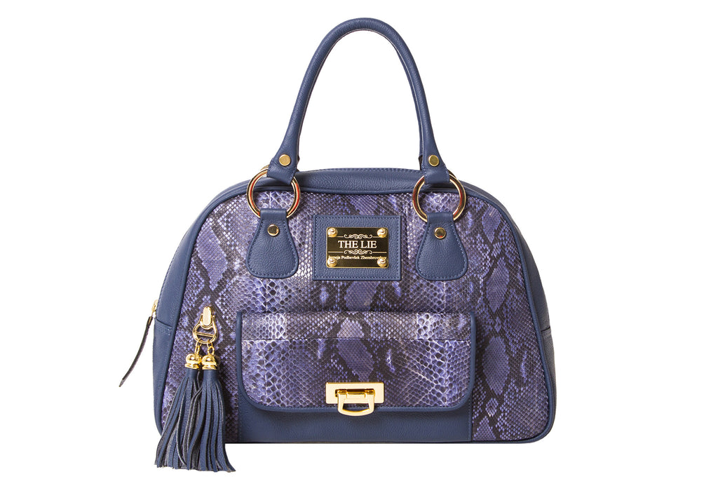 NEW ARRIVAL - Classic Tote Purple Python