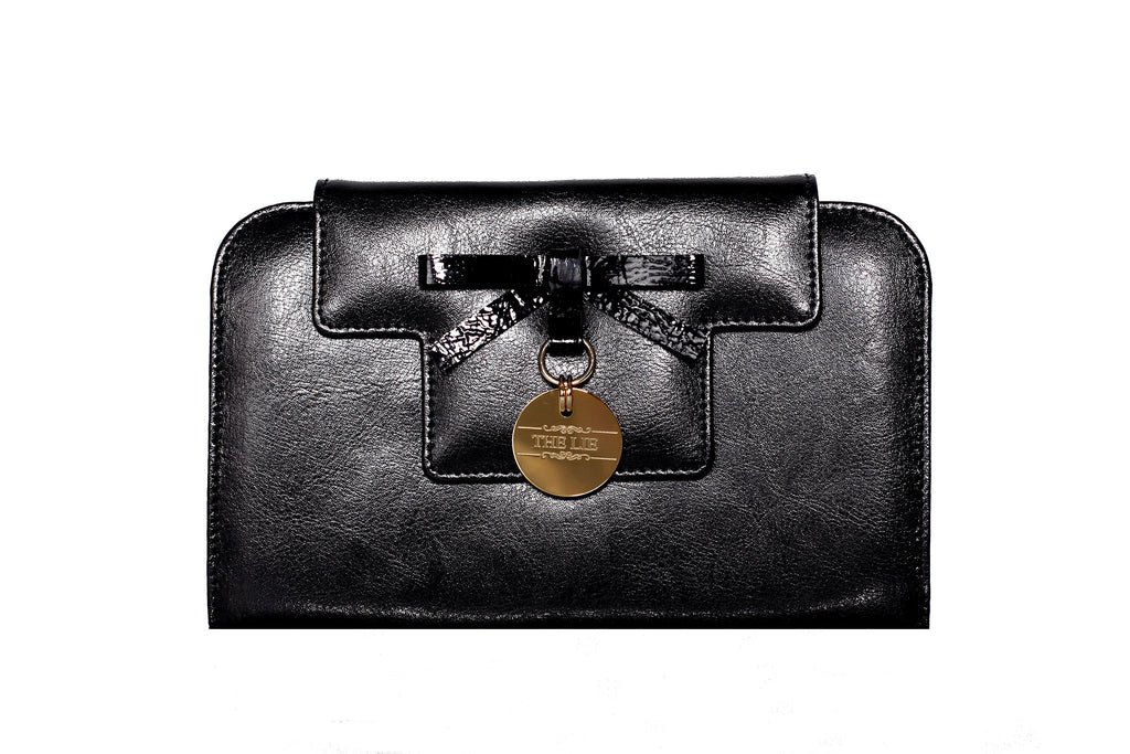 Deep Black Candy Wallet Gold