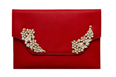 NEW ARRIVAL - Lux Red Love Letter Christmas Clutch