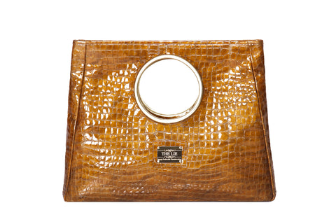 Statement Bag Fashionista  Golden Croc