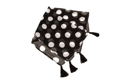 NEW ARRIVAL - Scarf Up That Handbag Black & White Polka Dots