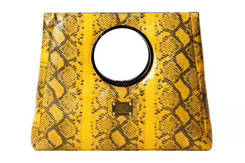 Statement Bag Fashionista Mustard Python