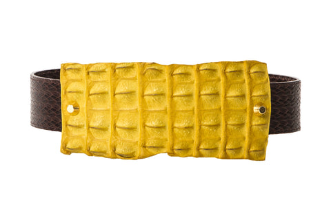 NEW ARRIVAL -  Alligator Mustard Exotic Waist Belt