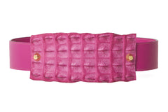 NEW ARRIVAL - Alligator Fuchsia Exotic Waist Belt