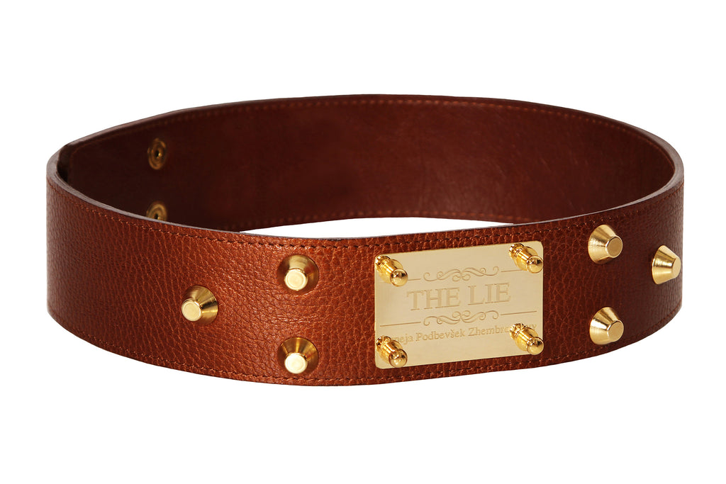 Classic Studded Brown Belt