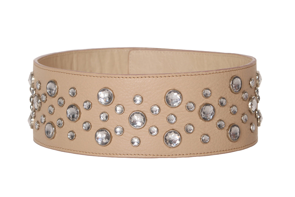 Powder Pink Diamond Wide Belt
