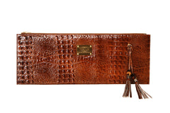 Designer's Masterpiece Cognac Brown Croc
