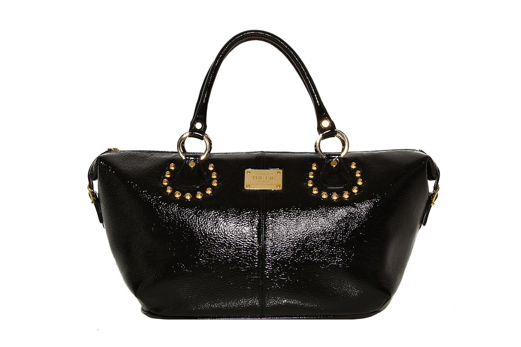 Momma Tote Shiny Black