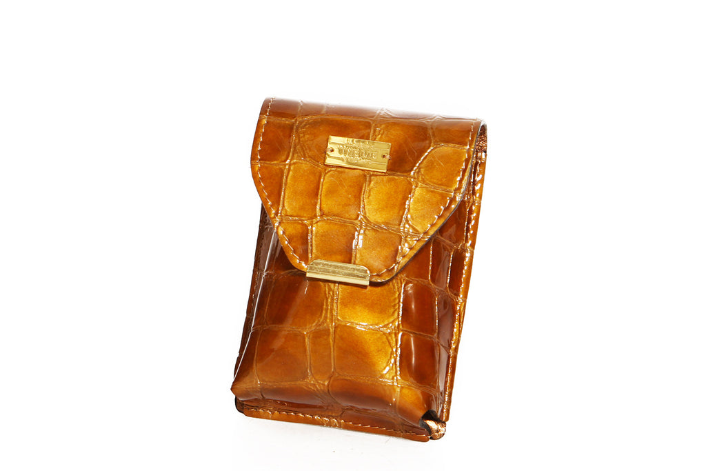 Golden Croco Cigarette Case