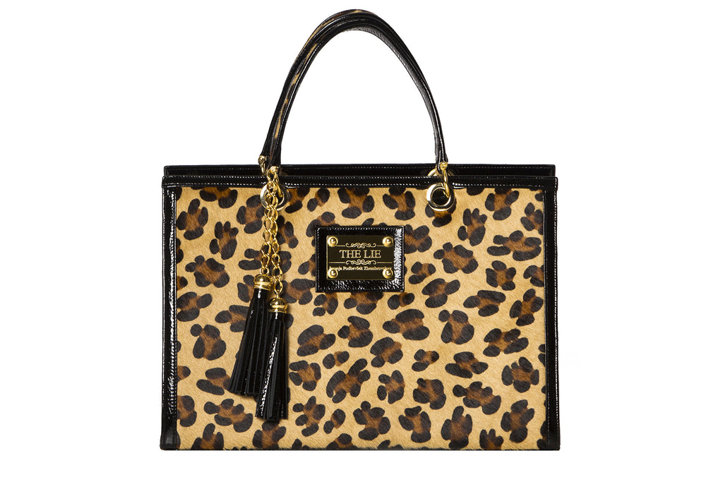NEW ARRIVAL - Statement Rectangular Brown Leopard Tote