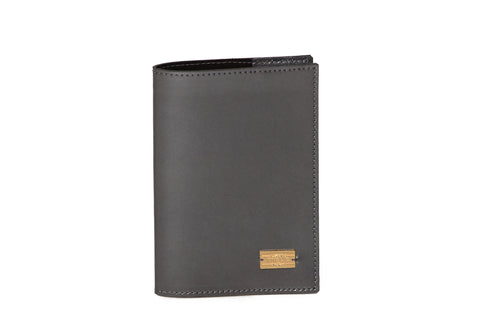 Metallic Gray Passport Case