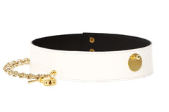 White Star Waist Belt With Chain