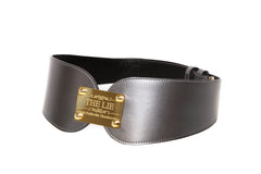 Metallic Grey Masterpiece Heart Belt
