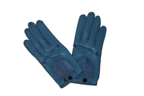 NEW ARRIVAL - Ocean Blue Biker Gloves