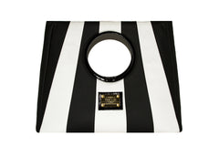 NEW ARRIVAL - Statement Bag Fashionista Black & White Delight