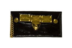 NEW ARRIVAL - Black Rock Chick Chic Golden Quote Clutch