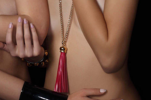 Chunky Love - Golden Candy Tassel Necklace Fuchsia