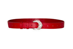 NEW ARRIVAL - Sexy Red Babydoll Skinny Belt