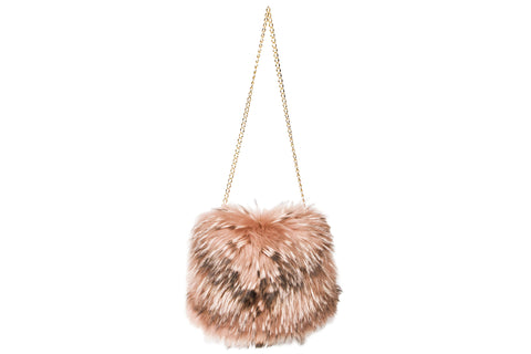 NEW ARRIVAL - Luxurious Pink Racoon Hand Muff