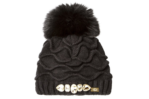 NEW ARRIVAL - Statement Fur Pom Pom Beanie Golden Combo