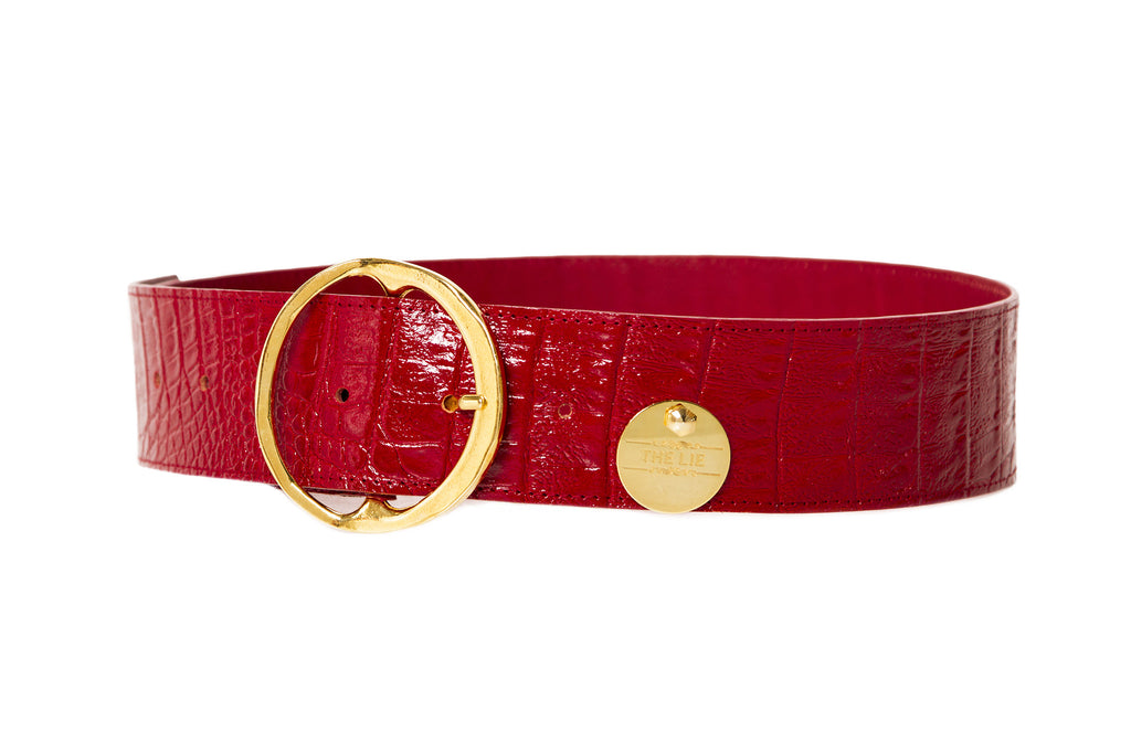 Bloody Mary Croco Waist Belt