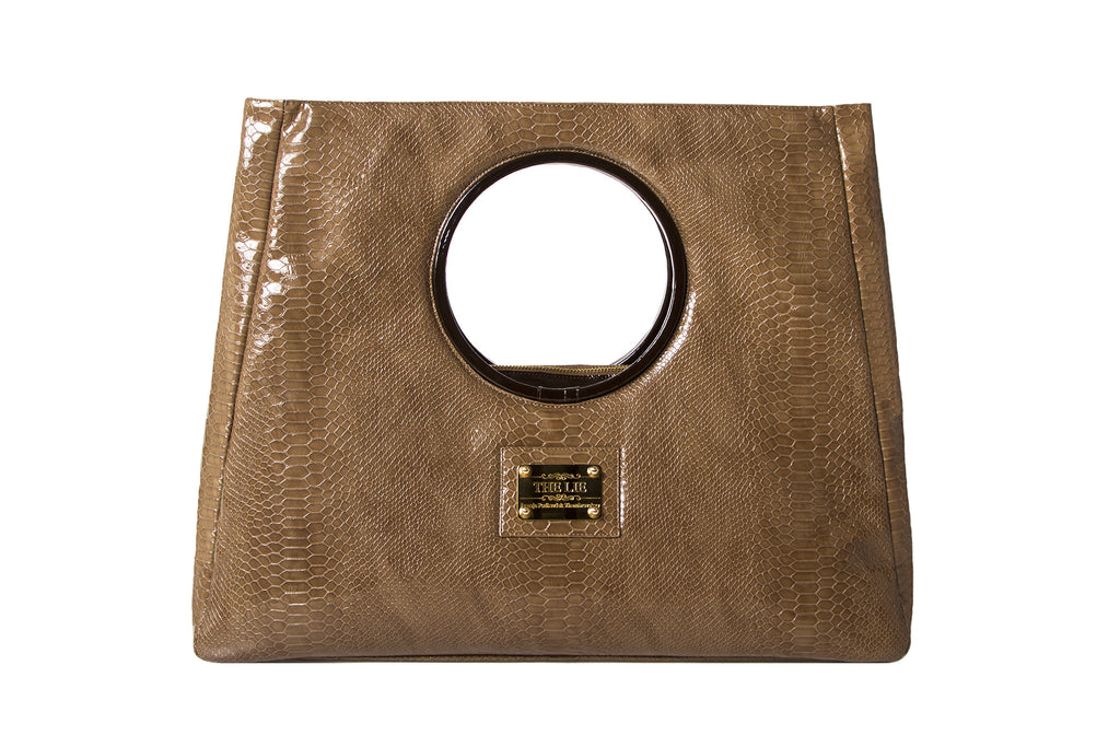 NEW ARRIVAL - Statement Bag Fashionista Sand Python