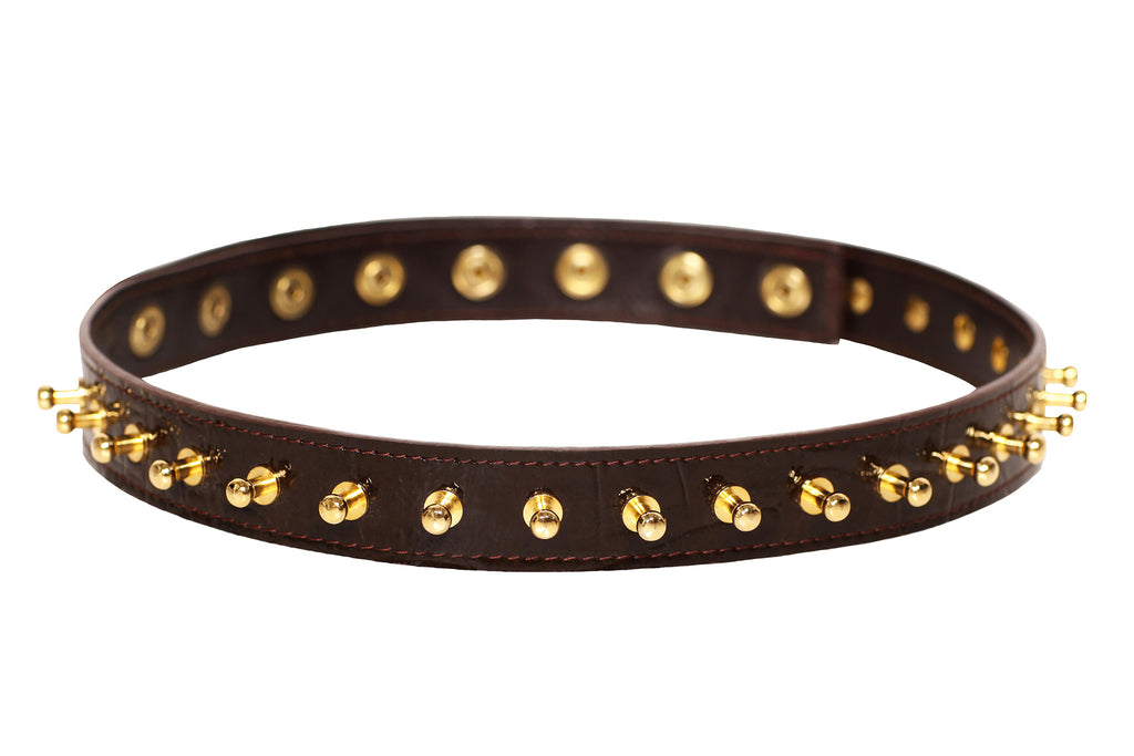 Rock Chic Spiked Skinny Belt