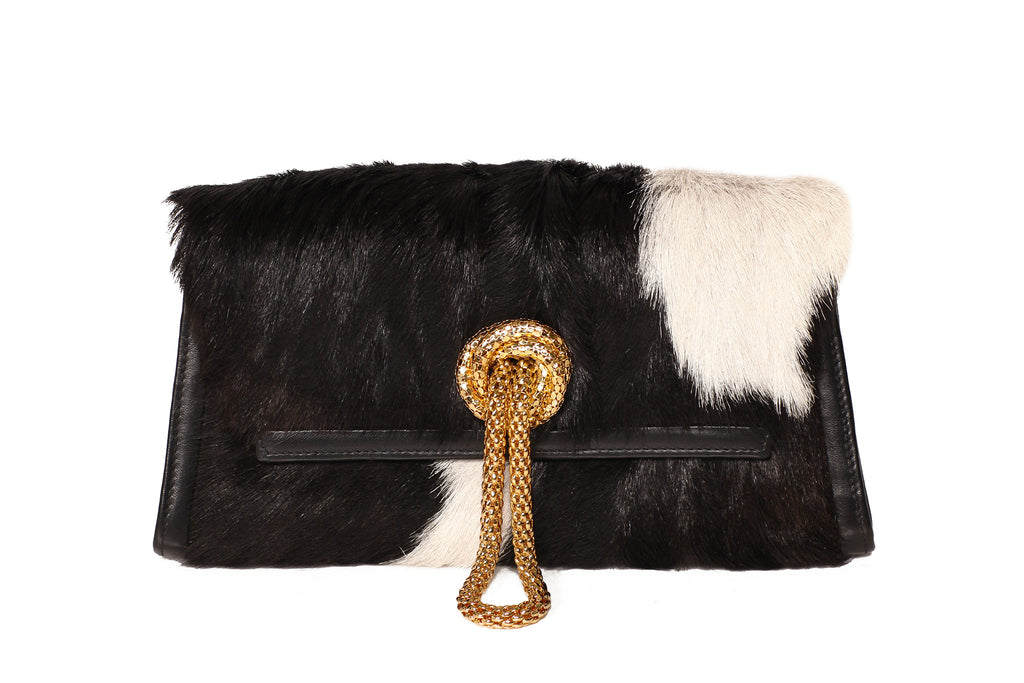Trapezoid Winter Black & White Delight Clutch