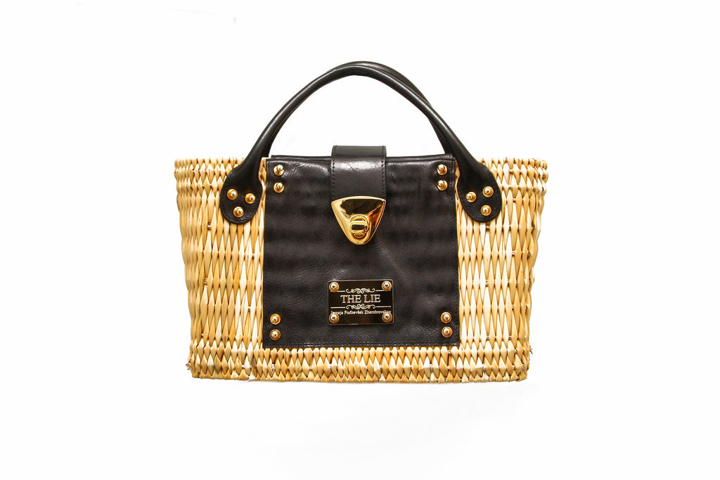NEW ARRIVAL - Summer Beauty Gold Buckle Mini Straw Bag
