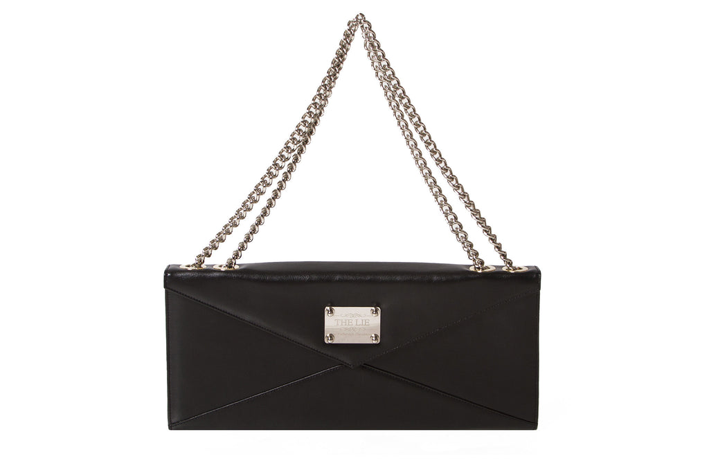 NEW ARRIVAL - Evening Envelope Cross Body & Shoulder Matte Black With Silver Combo