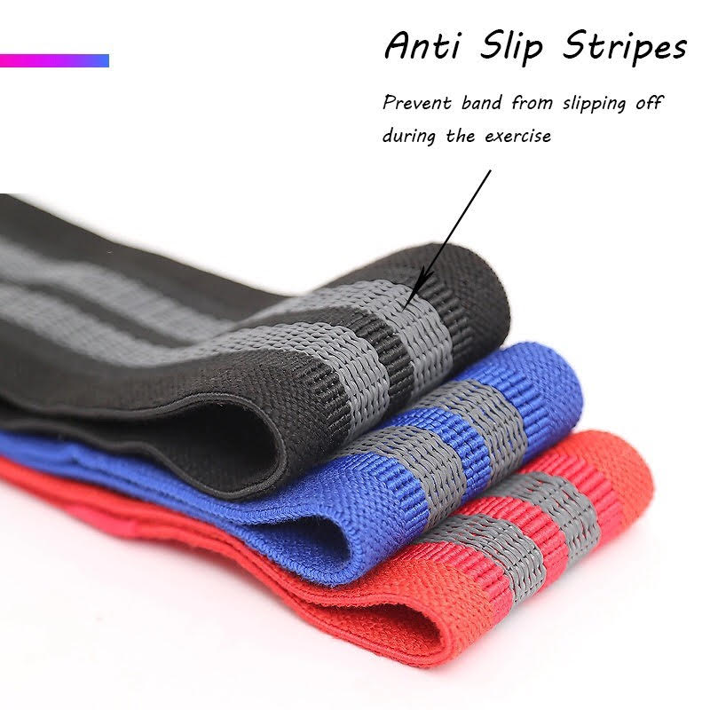 Ladies Premium Fabric 3pcs Fitness Resistance Bands