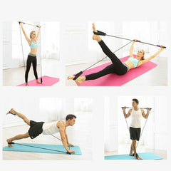 BeTransformed™️  Portable Pilates Fitness Resistance Band Bar