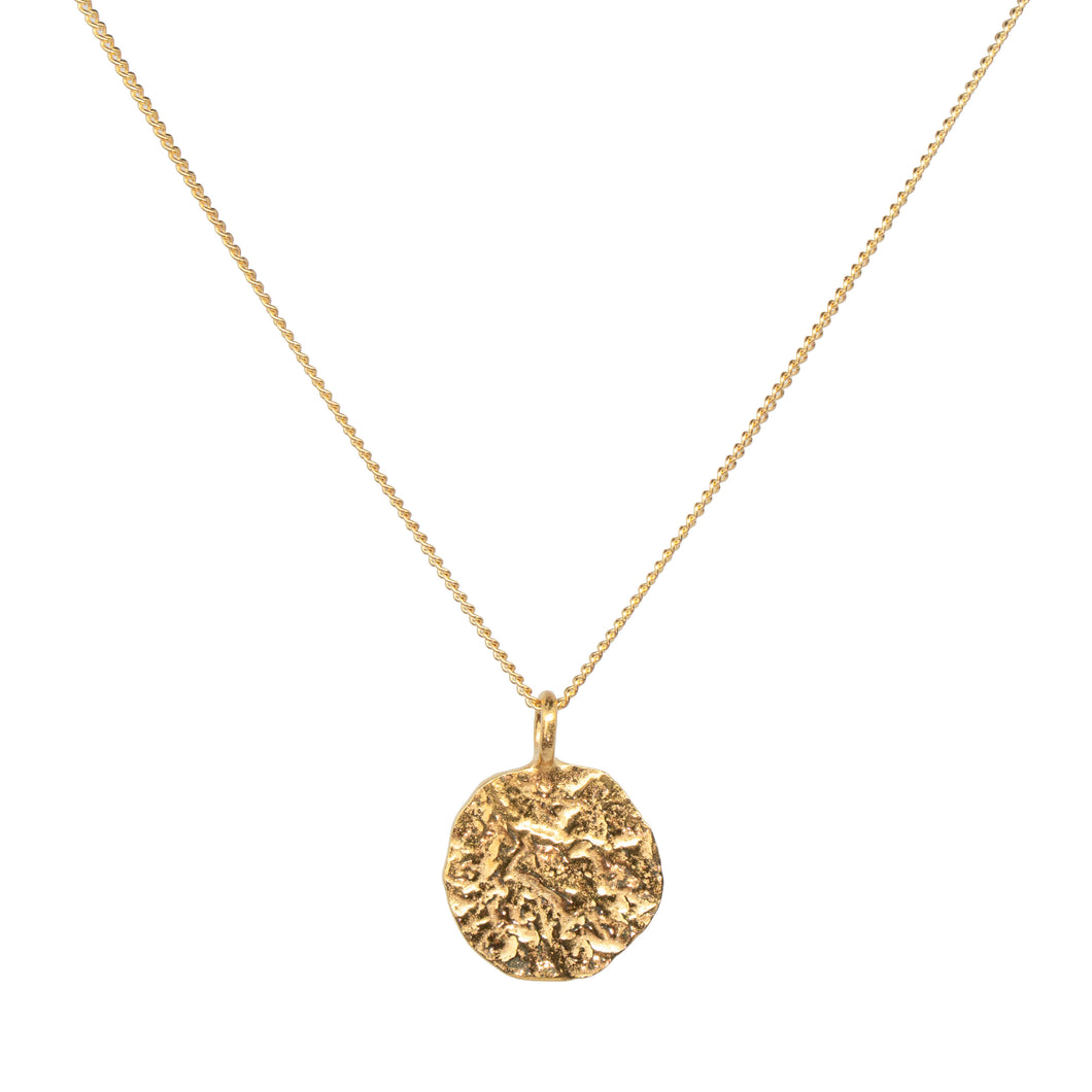 MELTED COIN NECKLACE GOLD